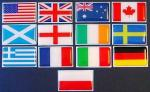 Small World Flags Domed Decal 1 1/8 in X 1 7/8 in.