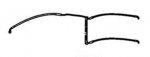 Thunderbird/Storm Extended Front Brake Line for Non ABS System: A9620018