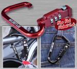 HelmetLok Carabiner-style Combination Lock