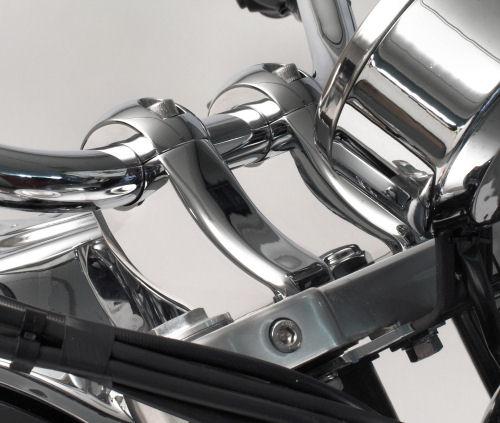 RIVCO Handlebar Risers Chrome - TA017