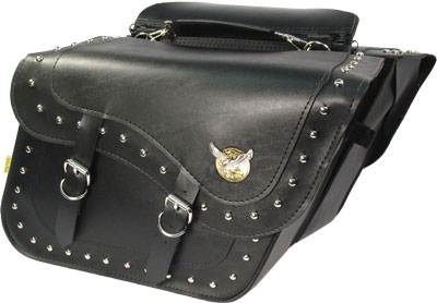 SB727 - Studded Super Slant Saddlebag