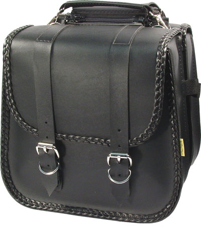 SB230 - Braided Small Touring Saddlebag