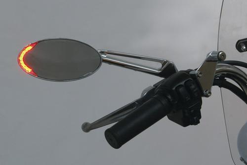 Custom LED Lighted Turn Signal Motorcycle Mirrors: MIRLED