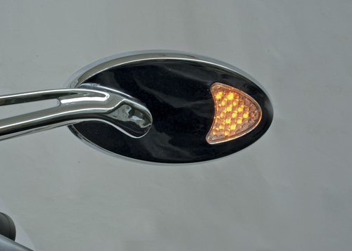 Custom LED Lighted Turn Signal Motorcycle Mirrors: MIRLED