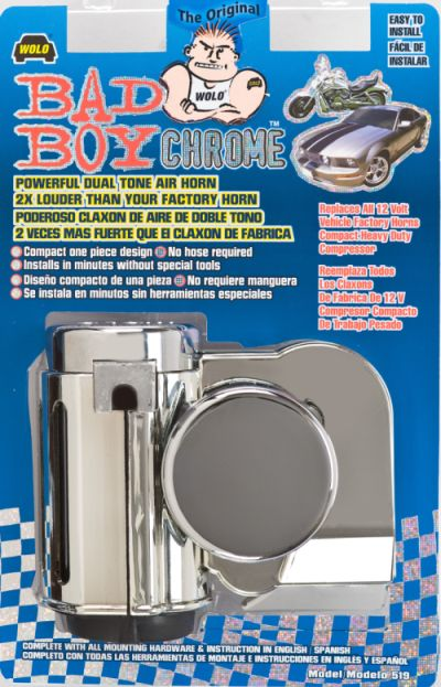 WOLO® BAD BOY DUAL TONE AIR HORN CHROME: 702001