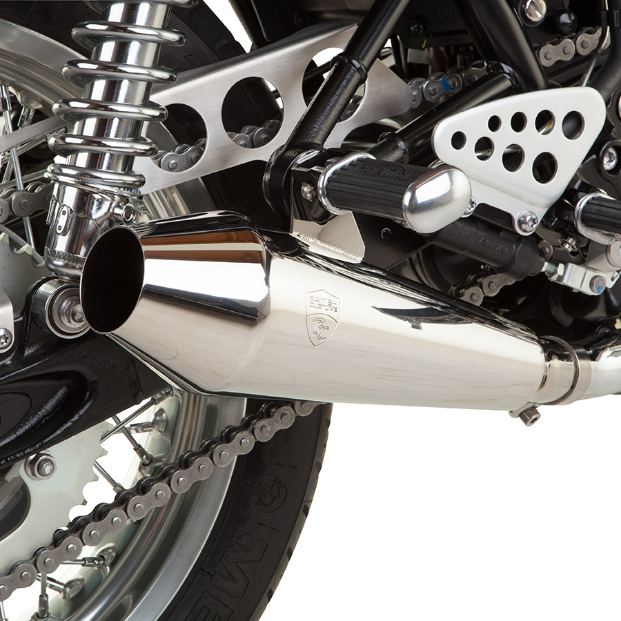 Thruxton Shorty Predator Exhaust
