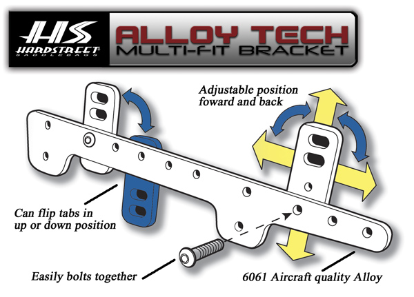Hardstreet Alloy Tech Brackets: 1HAR-5071-01