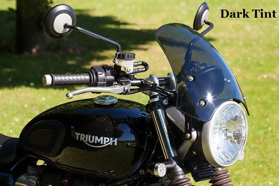 Triumph Street Twin-Dart Classic Vent Pare-brise IN LIGHT TINT