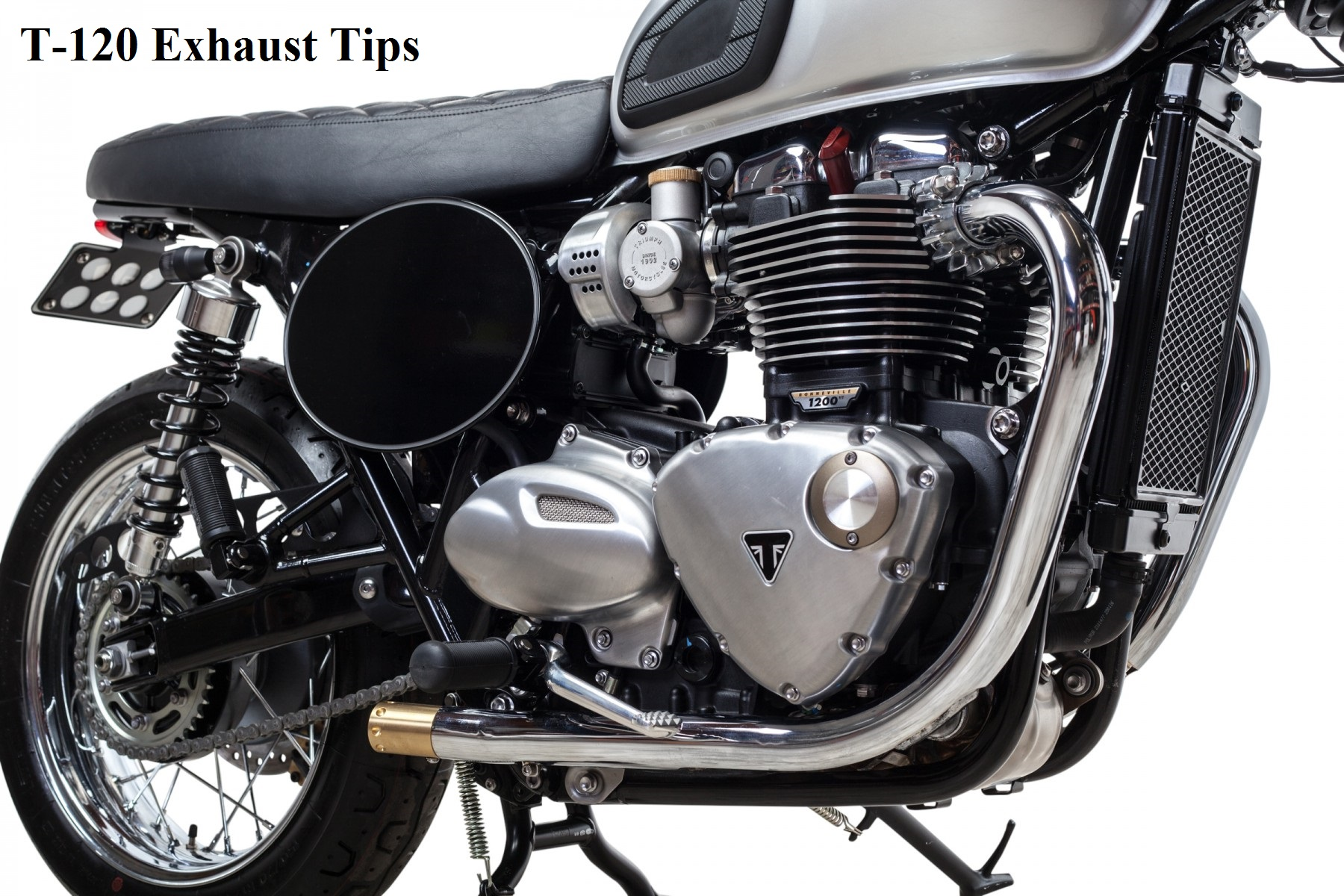EXHAUST TIPS FOR T120 | BLACK