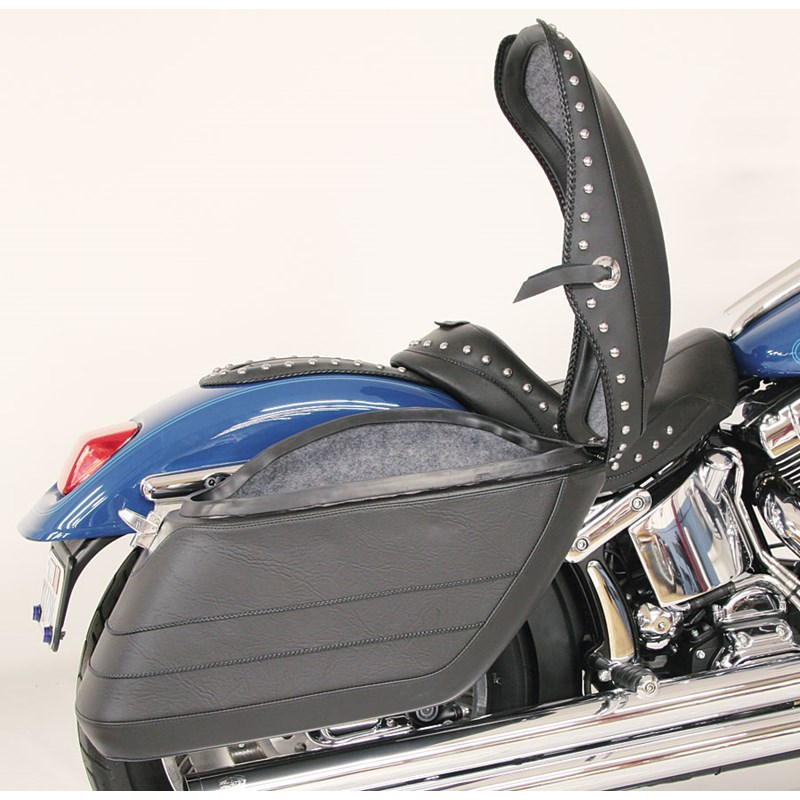 Mustang Fiberglass Plain Saddlebag Set: 13301