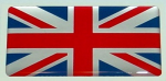 "3"" X 1.5\"" British Flag Domed Decal."