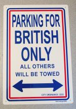 British Only Parking Sign: FLBO